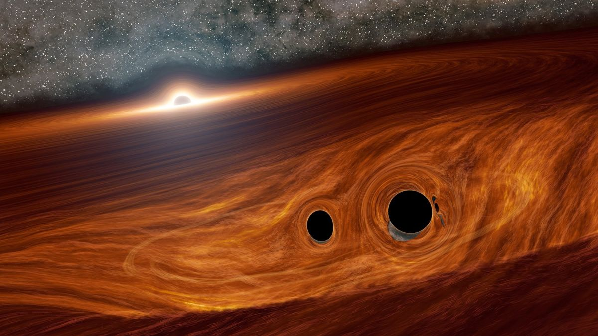 Read more about the article Scientists spot flash of light from colliding black holes. But how?